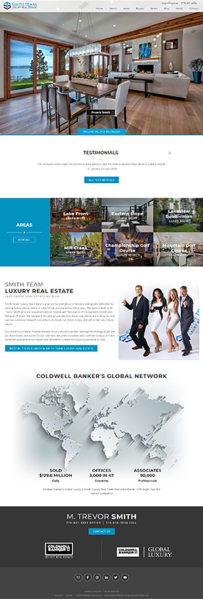 Lake Tahoe Real Estate Website Smith Team